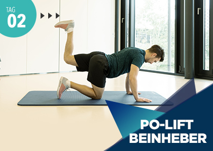 Fitness Challenge Tag 2: Po-Lift Beinheber