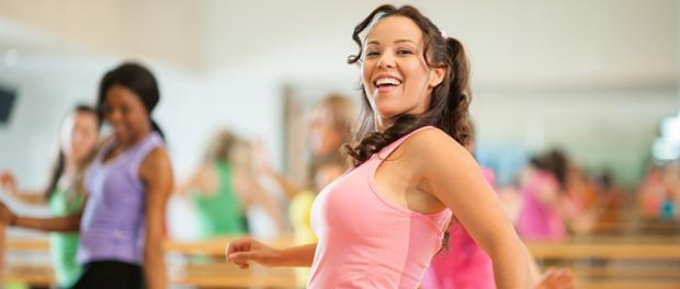 Frauen beim Zumba Dance Workout