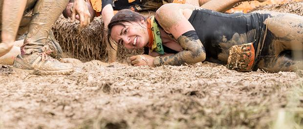 Tough Mudder Läuferin