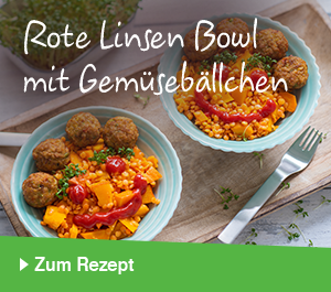 Rote Linsen Bowl